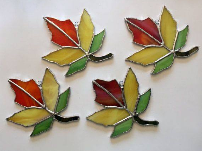 One & Done Stained Glass Fall Leaves